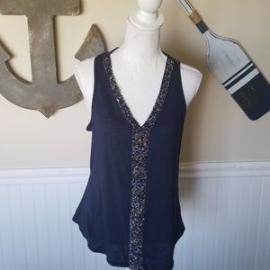 Navy tank with front beading